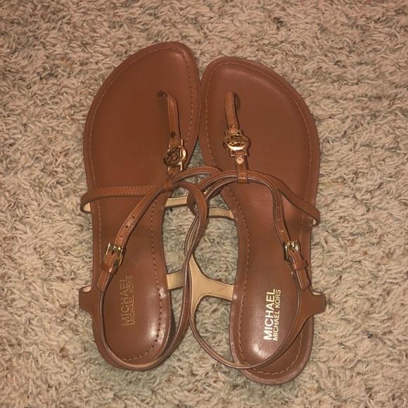 Michael Kors Shoes - NWOT Brown Michael strap sandals